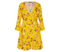 Kleid 'floral Wrap' gelb / rot