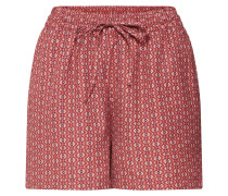 Shorts 'diana' rostrot / weiß