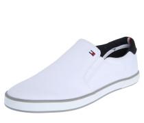 Loafer aus Textil weiß