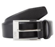 Ledergürtel mit Narbung 'C-Ellot' schwarz