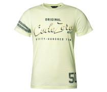 T-Shirt pastellgelb / grün / schilf