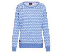 Sweatshirt 'Daria Zig Zag' blau