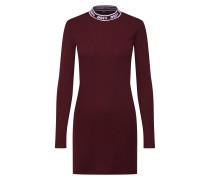 Kleid 'stanton Dress' weinrot / weißmeliert