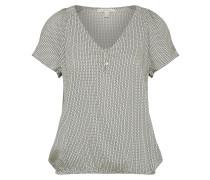 Shirt blau / braun / grau / naturweiß