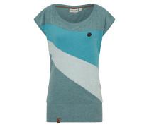 Shirt 'Herbert' blau / hellgrau / petrol