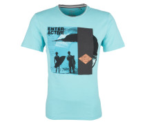 Jerseyshirt türkis / schwarz