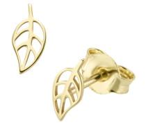 Ohrstecker 'Blätter' gold
