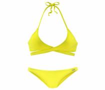 Triangel-Bikini in Wickeloptik