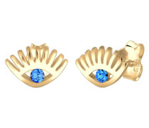 Ohrringe 'Evil Eye' himmelblau / gold