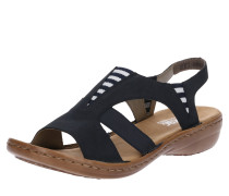 Sandale weiß / nachtblau