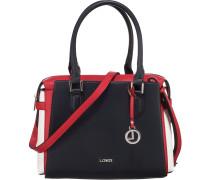 Eleonora Handtasche nachtblau / rot / weiß