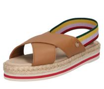 Sandale 'colorful' beige / cognac