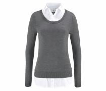 2-in-1-Pullover grau