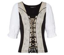 Shirt 'Uki2' nude / schwarz / weiß