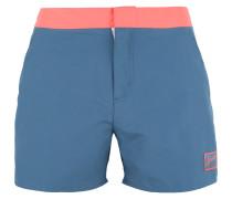 Badeshorts 'vintage' blau / orangerot