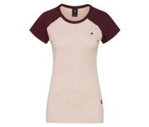 Shirt rosa / weinrot