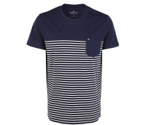 T-Shirts blau / weiß