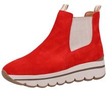 Stiefelette rot / weiß