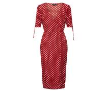 Kleid 'wrap Front Polka Midi Dress'