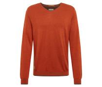 Pullover 'Vneck plated basic' orange