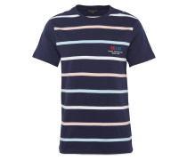 T-Shirt 'RN Multistripe' navy