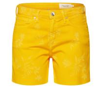 Jeansshorts gelb / orange