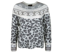 Pullover mit Muster-Mix
