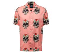 Hemd 'blossvale' grau / rosa