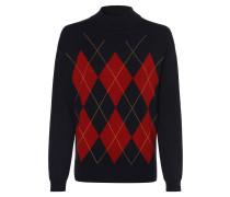 Pullover nachtblau / orange / rot