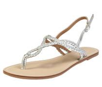 Sandalette 'margit Braided' silber