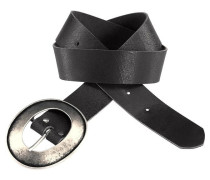 Ledergürtel »Schnalle im XL-Format«