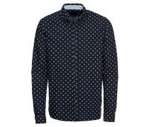 Hemd nachtblau / perlweiß