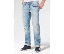 Jeans im Vintage Look mit breiten Nähten