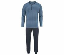 Pyjama lang mit Streifen