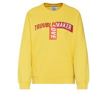 Sweatshirt 'Lucky Boy' gelb / rot
