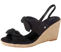 Sandaletten sand / schwarz