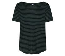 Shirt 'Lucianna' grün / schwarz