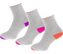 Socken graumeliert / lila / orange / pink