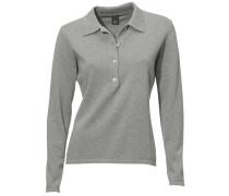 Polo-Pullover grau