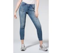 Jeans Salt Water Washed mit Artworks blau