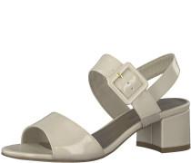 Blockabsatz Sandale creme