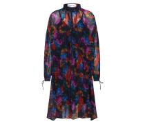 Kleid in floralem Design mischfarben