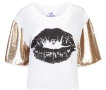 Shirt 'Nina' gold / schwarz / weiß