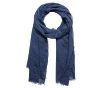 Schal mit Knittereffekt blau