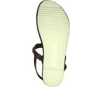 Zehentrenner Sandale 'Taler' braun / gold