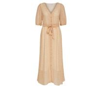 Kleid pastellorange / weiß