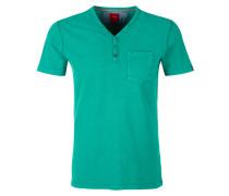 Henley-Shirt mit Waschung grün