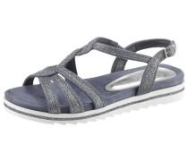 Sandale taubenblau / silber