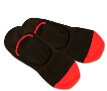 Füßlinge 'HiddenRedToes' rot / schwarz