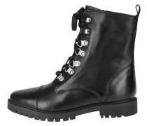 Schnürstiefelette mit rockigem Style schwarz